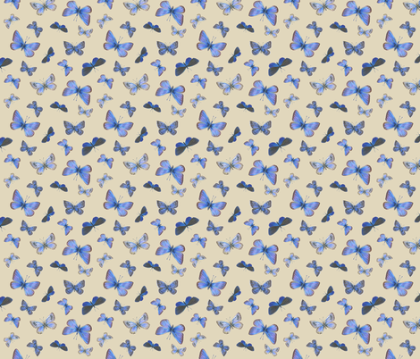 blues on the air - small fabric by weavingmajor on Spoonflower - custom fabric