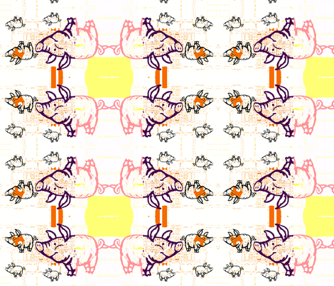 LITTLE PIGS FARM by evandecraats march 26, 2012 fabric by _vandecraats on Spoonflower - custom fabric