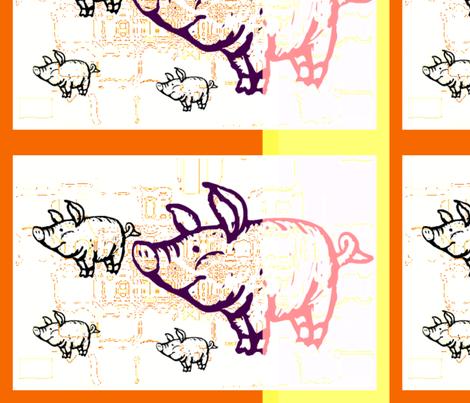 Little pigs cut and sew by evandecraats march 26, 2012 fabric by _vandecraats on Spoonflower - custom fabric