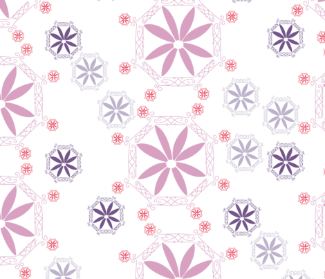 Pink_Medallion_Dress_Print_FOR_SPOONFLOWER_UPLOAD fabric by clbattram on Spoonflower - custom fabric