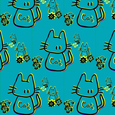 Cats by evandecraats march 26, 2012 fabric by _vandecraats on Spoonflower - custom fabric