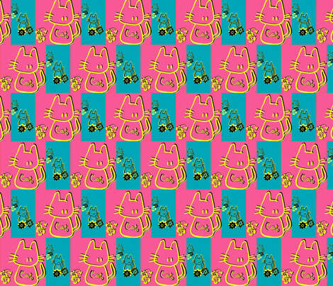 Cats blues by evandecraats march 26, 2012 fabric by _vandecraats on Spoonflower - custom fabric
