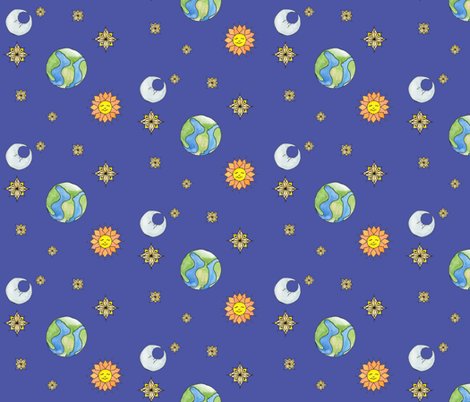 Celestial Ditzy fabric by amyelyse on Spoonflower - custom fabric