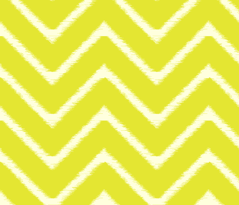 Lime Ikat Chevron fabric by fable_design on Spoonflower - custom fabric
