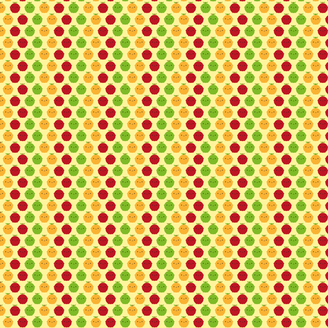 Tiny Cutie Fruity fabric by marcelinesmith on Spoonflower - custom fabric