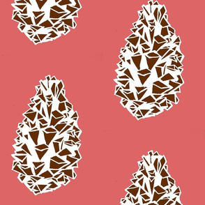 pink and brown pinecone