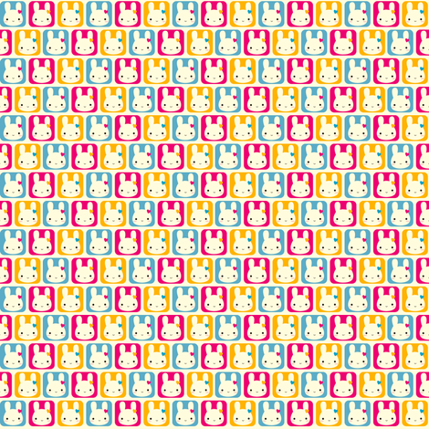 Tiny Bunny Squares fabric by marcelinesmith on Spoonflower - custom fabric