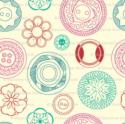 Tiny Vintage Buttons - Candy Colours
