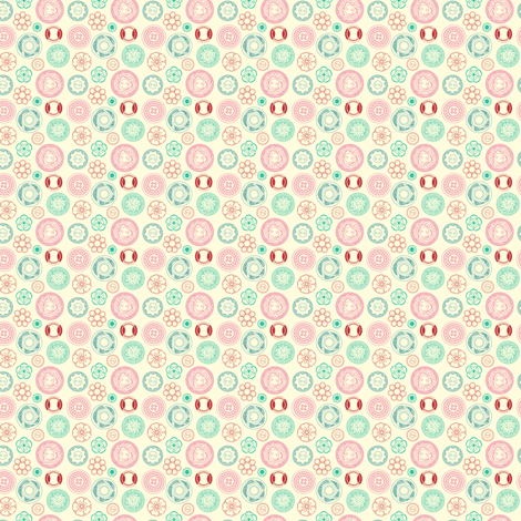 Tiny Vintage Buttons - Candy Colours fabric by marcelinesmith on Spoonflower - custom fabric