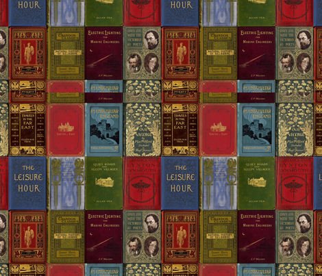 rare books (panel version) fabric by mossbadger on Spoonflower - custom fabric