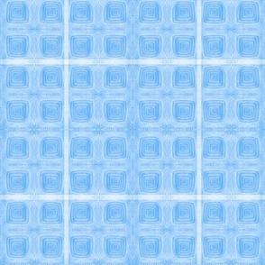 True Blue Hand-drawn Squares