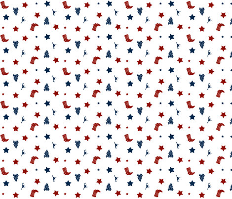 Lone Star Texas fabric by evenspor on Spoonflower - custom fabric