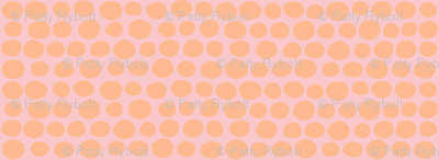 Wobbly Sweet Peas (tangerine & pink)