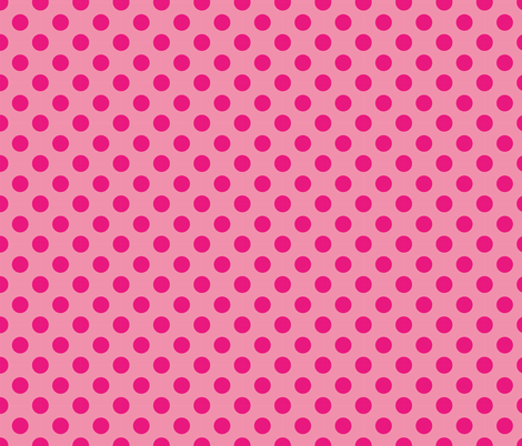 THE SEWER PROTECTOR II (coordinated fabric - raspberry pois) fabric by majobv on Spoonflower - custom fabric