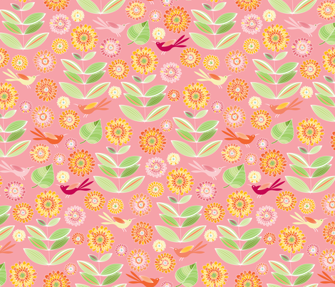 Pink Lemonade fabric by kayajoy on Spoonflower - custom fabric