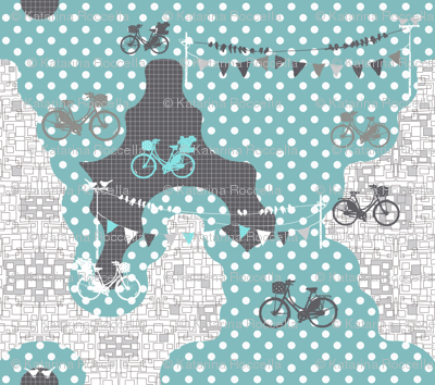 bicycles on dots
