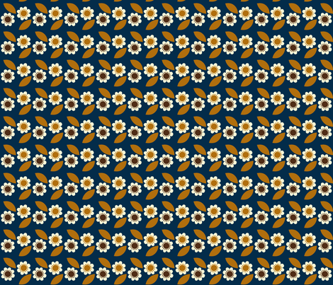 little retro flower fabric by mariao on Spoonflower - custom fabric