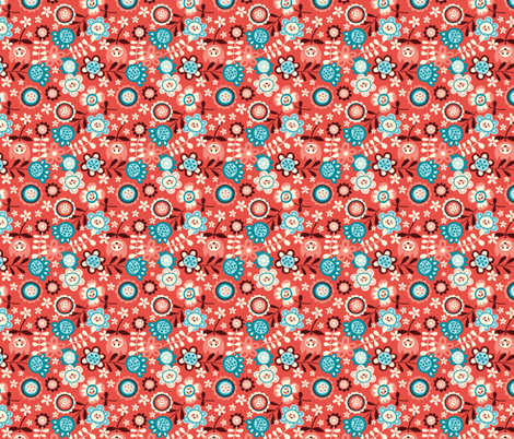 Flower Ditsy fabric by bora on Spoonflower - custom fabric
