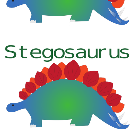 Stegosaurus fabric by megankaydesign on Spoonflower - custom fabric