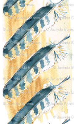 Texas Modern Hawk Feather Maize