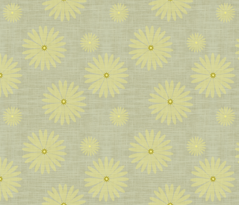 Yellow Star of Daisy fabric by brainsarepretty on Spoonflower - custom fabric