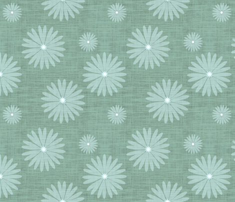 Underwater Daisy fabric by brainsarepretty on Spoonflower - custom fabric