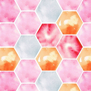Texas Modern Honeycomb Pink
