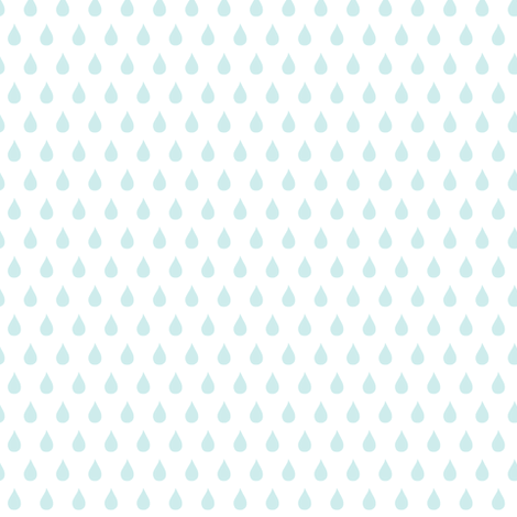 Rainy Days Mini (lt. aqua) fabric by pattyryboltdesigns on Spoonflower - custom fabric