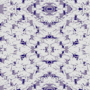 Diamond weave white on lilac ground