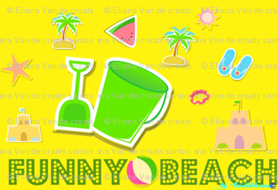 Funny beach yellow  by evandecraats__March_27__2012