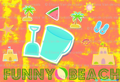 Funny beach blue/pink  by evandecraats__March_27__2012