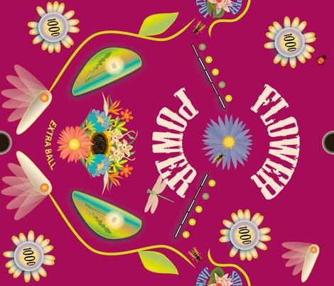 Flower Power Pinball fabric by whatsit on Spoonflower - custom fabric