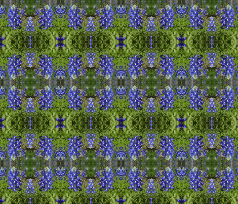 groovy blue bonnets fabric by kari's_place on Spoonflower - custom fabric