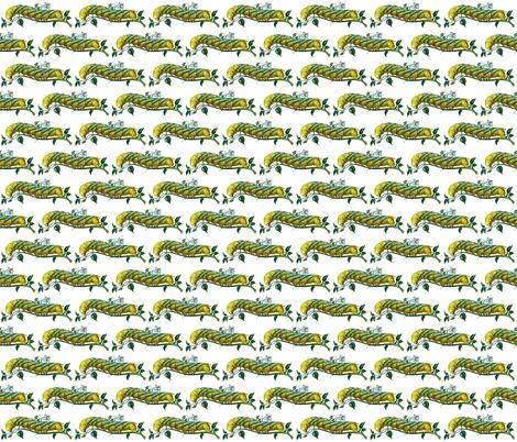 Caterpillar - Acherontia atropos fabric by zephyrus_books on Spoonflower - custom fabric