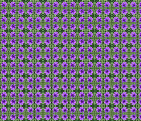 purple flower fabric by kari's_place on Spoonflower - custom fabric