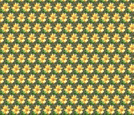 yellow flower apron fabric by kari's_place on Spoonflower - custom fabric