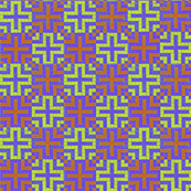 Cross on Purple (Checker Graph)