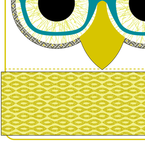 GEEKY OWL BAG - Kona version fabric by happysewlucky on Spoonflower - custom fabric