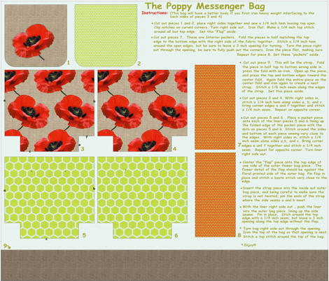 poppy messenger bag fabric by littlerhodydesign on Spoonflower - custom fabric