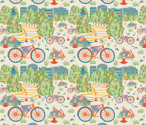 City Sightings (Small) fabric by gracedesign on Spoonflower - custom fabric