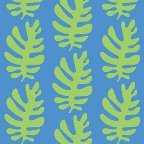 Funky Leaf  (green & deep sky blue)