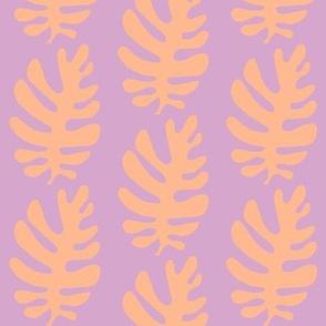 Funky Leaf ! (lilac & tangerine)