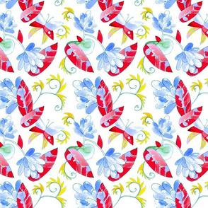 Jolly flowers and butterflies