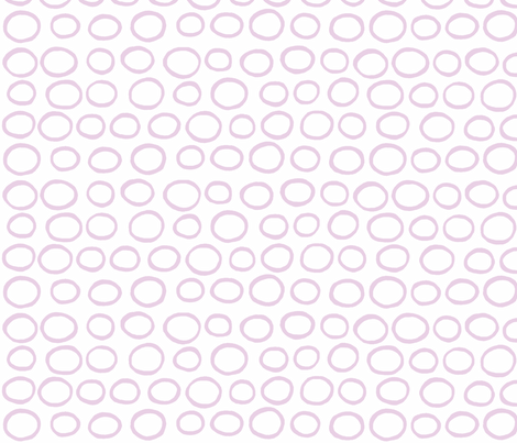 Wobbly Peas (lilac & white) fabric by pattyryboltdesigns on Spoonflower - custom fabric