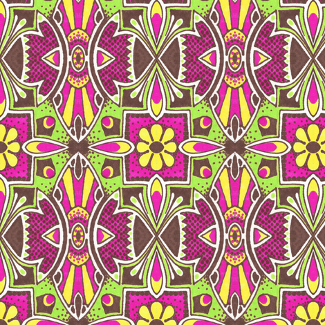 Bloomsdale Garden fabric by siya on Spoonflower - custom fabric