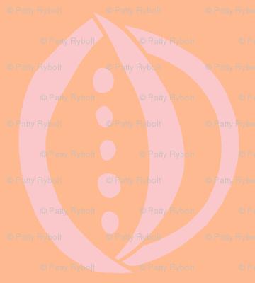 Onion & Peas (pink blush & tangerine)