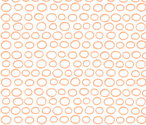 Wobbly Peas (tangerine & white) fabric by pattyryboltdesigns on Spoonflower - custom fabric