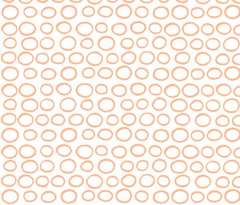 Wobbly Peas (tangerine & white) fabric by pattyryboltdesigns on Spoonflower - custom fabric