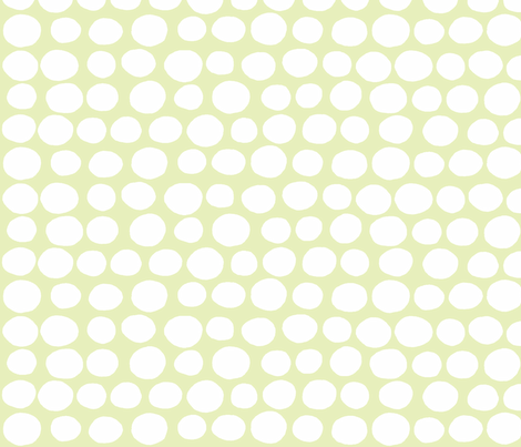 Wobbly Sweet Peas (white & light lime) fabric by pattyryboltdesigns on Spoonflower - custom fabric