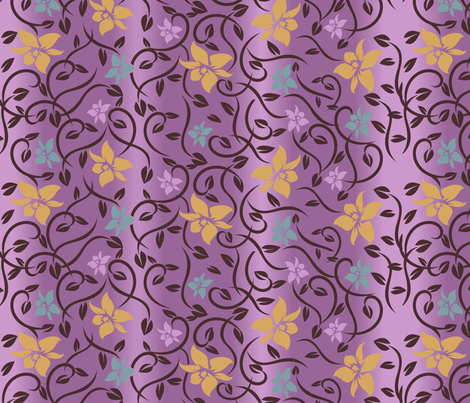 Magical Asian Flower - Purple fabric by jbhorsewriter7 on Spoonflower - custom fabric